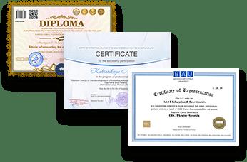 Диплом, действительный в Европе, США и Украине